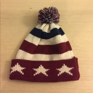 USA flag design Cute Beanie Hat